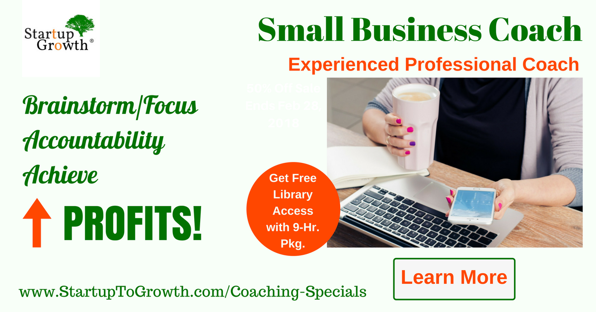 Small Business Coaching by Experienced Professional